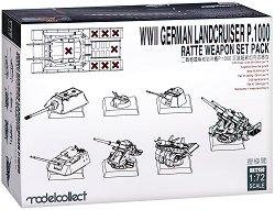 Комплект оръдия за немски супер тежък танк - Landcruiser p.1000 Ratte - Сглобяем модел -