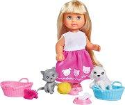 """Еви Лав с домашни любимци - Кукла с фигурки и аксесоари от серията """"Steffi Love"""" - продукт"""