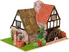 Вила с мелница в английски стил - Сглобяем модел от истински тухлички - продукт