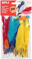Цветни декоративни пера - Комплект от 100 броя