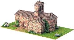 Църква  St. Pere d'Auira - Сглобяем модел от истински тухлички - макет