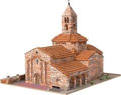 Църква St. Maria d'Egara - Сглобяем модел от истински тухлички - макет