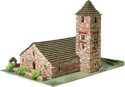 Църква St. Joan de Boi - Сглобяем модел от истински тухлички - макет