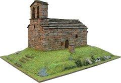 Църква St. Quirc de Durro - Сглобяем модел от истински тухлички - макет