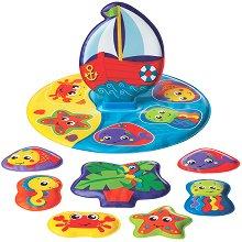 Детски пъзел за баня - Лодка - Играчка за баня -