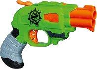 "Пистолет - Doublestrike - Комплект с 2 меки стрели от серията ""Nerf: Zombie Strike"" -"