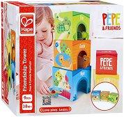 Кула - Пепе и приятели - Бебешка играчка за подреждане - играчка