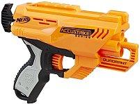 """Пистолет - Quadrant - Комплект с 4 меки стрели от серията """"Nerf: N-Strike Elite"""" - играчка"""