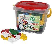 Детски конструктор - Семейство - Комплект от 108 елемента -