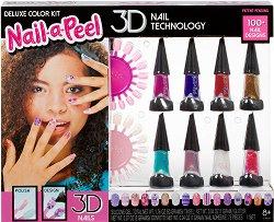 Детски подаръчен комплект за 3D маникюр - Nail-а-Peel -