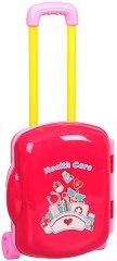 Лекарски комплект - Детски комплект с аксесоари в куфарче с  колелца -