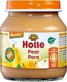 Holle - Био пюре от круши - Бурканче от 125 g за бебета над 4 месеца -