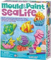 """Направи сама гипсови магнити - Морско дъно - Творчески комплект от серията """"Mould & Paint"""" - детска бутилка"""