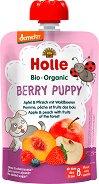 Holle - Био забавна плодова закуска с ябълки, праскови и горски плодове - продукт