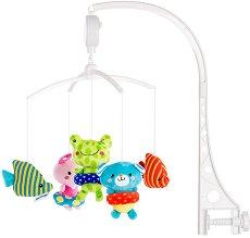 Музикална въртележка - Малки плувци - Играчка за бебешко креватче - играчка