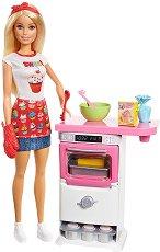 """Барби - Сладкар - Кукла с аксесоари от серията """"Barbie"""" - количка"""