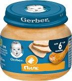 Nestle Gerber - Пюре от пилешко месо - Бурканче от 80 g за бебета над 6 месеца - продукт