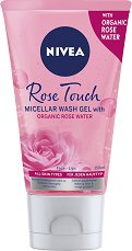 "Nivea MicellAIR Rose Water Wash Gel - Мицеларен почистващ гел с розова вода от серията ""MicellAIR - продукт"