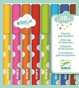 Флумастери с връх четка - Комплект от 8 цвята