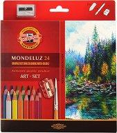 Акварелни цветни моливи - Монделуз - Комплект от 24 цвята