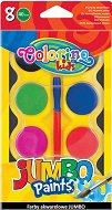 Акварелни бои - Jumbo - Палитра от 8 цвята с четка - продукт