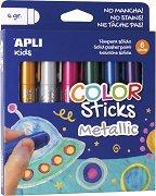 Металикови гел-стик пастели - Комплект от 6 цвята х 6 g
