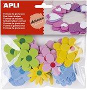 Самозалепващи фигурки от EVA пяна - Цветя - Комплект от 40 броя