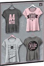 Ученическа тетрадка - Shirt 1 : Формат А4 с широки редове - 40 листа -