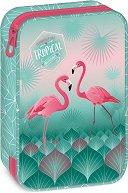 Ученически несесер - Pink flamingo - детски аксесоар