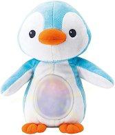 Светещ пингвин - Плюшена бебешка играчка с музикален ефект -