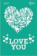 Самозалепващ шаблон - Love You - Размери 13 х 20 cm