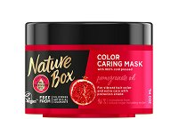 Nature Box Pomegranate Oil Color Caring Mask - Маска за боядисана коса с масло от нар - пудра