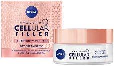 """Nivea Cellular Filler + Elasticity Reshape Day Cream - SPF 30 - Дневен крем за лице за плътна и еластична кожа от серията """"Cellular Filler + Elasticity Reshape"""" - продукт"""