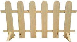 Дървена градинска ограда - 1 модул с дължина 120 cm