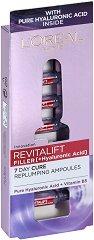 """L'Oreal Revitalift Filler HA Replumping Ampoules - Ампули за лице против стареене с хиалуронова киселина от серията """"Revitalift Filler HA"""" - маска"""