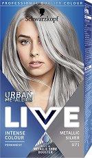 Schwarzkopf Live Urban Metallics Permanent Intensive Colour - Трайна крем боя за коса с метален оттенък - боя