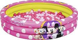 Надуваем детски басейн - Мини Маус - Комплект със 75 цветни топки за игра -