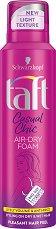 Taft Casual Chic Air-Dry Foam - Спрей-пяна за коса за ефирен обем -