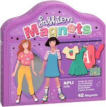 Облечи Клара и Луси - Детски комплект с магнити -