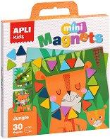 В джунглата - Детски комплект с магнити -