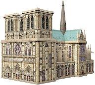 Катедралата Нотр Дам, Париж - 3D пъзел - пъзел