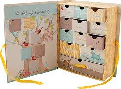 """Картонена кутия за спомени - Слончета - На английски език от серията """"Les Papoum"""" -"""