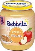 Bebivita - Плодов десерт от ябълков щрудел - Бурканче от 160 g за бебета над 8 месеца - пюре