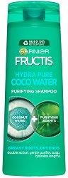 Garnier Fructis Coconut Water Shampoo - Шампоан с кокосова вода за мазни корени и сухи краища - крем