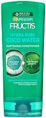 Garnier Fructis Coconut Water Conditioner - Балсам за коса с кокосова вода за мазни корени и сухи краища - крем