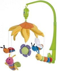 Музикална въртележка - Colourful bees - Играчка за бебешко креватче -