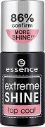 Essence Extreme Shine Top Coat - Топ лак за нокти за огледален блясък -