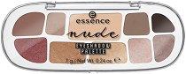 Essence Nude Eyeshadow Palette - Палитра с 10 цвята сенки за очи - продукт