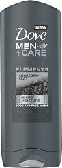 Dove Men+Care Elements Charcoal + Clay Body and Face Wash - сапун