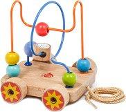 Лабиринт на колела - Дървена играчка за дърпане - играчка